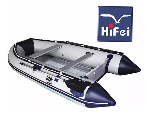 bote inflable con piso de aluminio + quilla inflable 3.60mtc