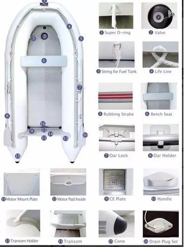 bote inflable con piso de aluminio y quilla inflable 3.20 mt