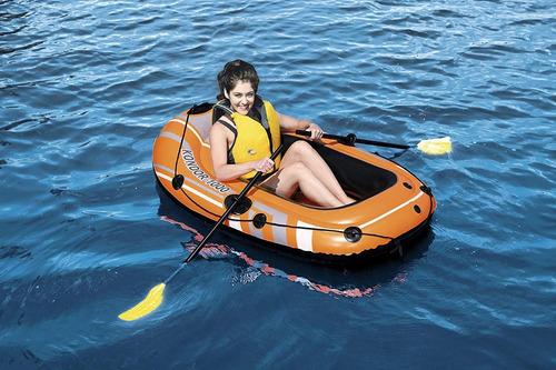 bote inflable con remos niños sop 80kg lago piscina playa