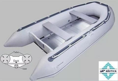 bote inflable coralsea hifei hsd 270 p/aluminio ap no zodiac