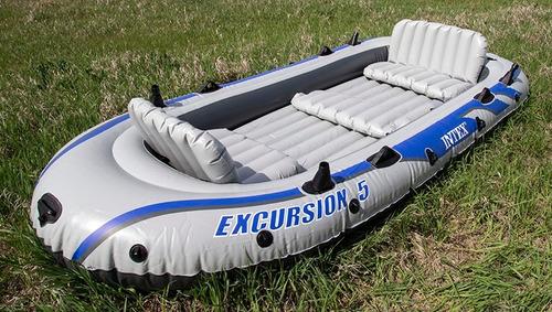 bote inflable excurcion 5 a 6 personas rio mar laguna remos