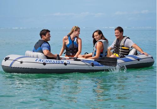 bote inflable excurcion 5 chaleco remo 2018 mar laguna kit