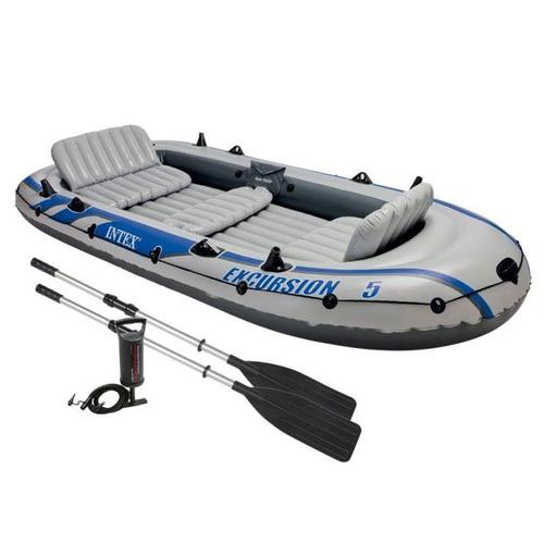 bote inflable excurcion 5 kit completo verano 2018 mar remo