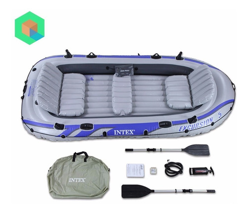 bote inflable excursion 5 + kit de reparacion