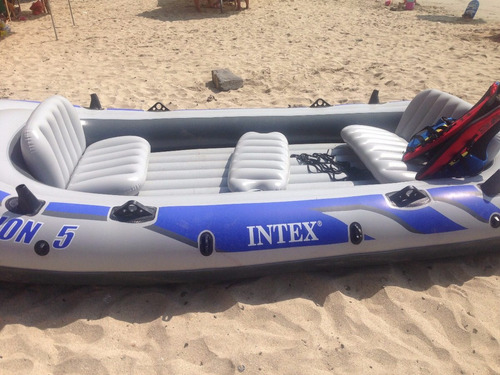 bote inflable excursion 5 + motor + chalecos + remos + monta