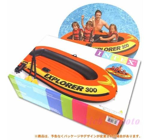 bote inflable explorer 300 remos inflador * 2 personas 186kg