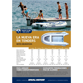 Bote Inflable Gomón Tender Desarmable Piso Aluminio Yc230al