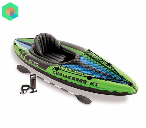bote inflable kayak challenger k1 (individual) verde - intex