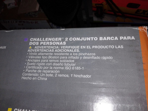 bote inflable para dos personas adultas-challenger 2, 170kg.