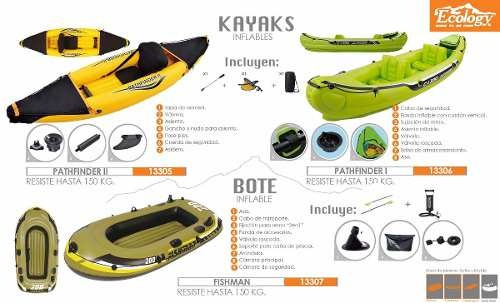 bote inflable para pesca 1 persona ecology fishman