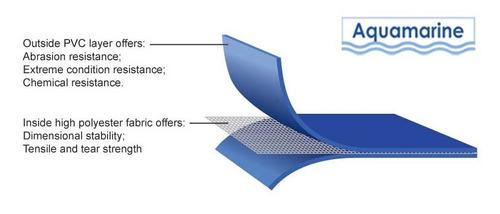 bote inflable power tec de 4.20 mts, piso de aluminio-