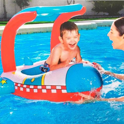 bote inflable salvavidas bebe niño techo filtro solar uv 50
