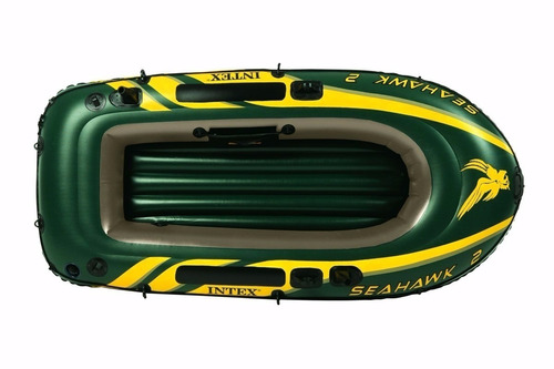 bote inflable seahawk 2p + remos e infiador intex 17790/4 mm