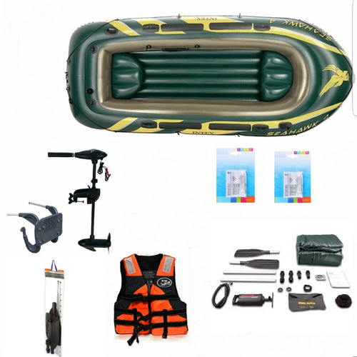 bote inflable seahawk4 chaleco inflable motor 2018 remos mar