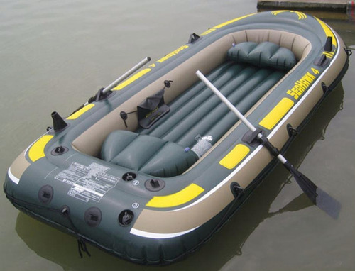 bote inflable seahawk4 + motor + chalecos + remos + monta