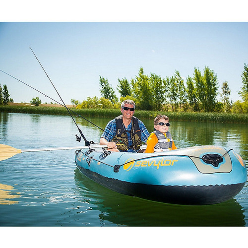 bote inflável fish hunter para 4 pessoas berkley - sevylor