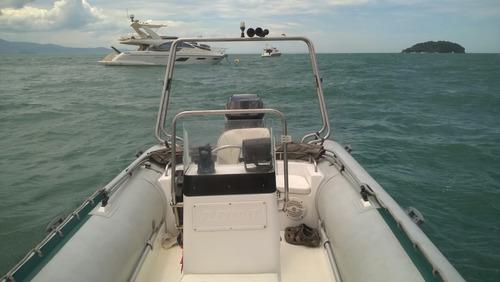bote inflável flex boat sr 500 - lx mercury 115hp conj 2003