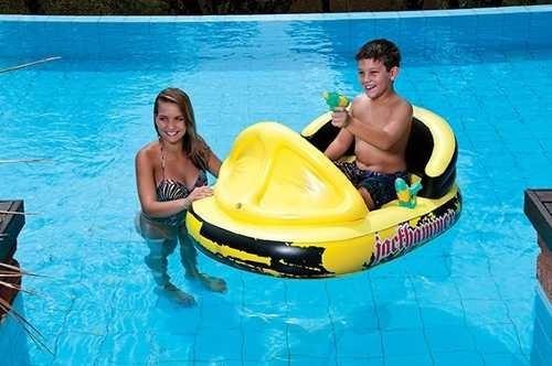 bote inflável pedalinho 2 pistolas atirar água boia piscina