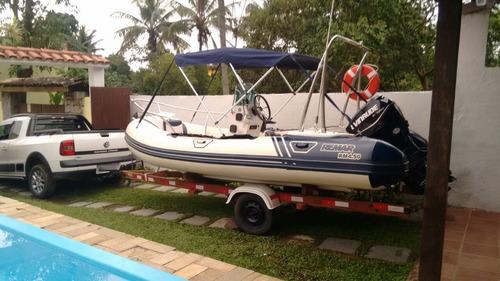 bote inflável remar com motor de popa 60 hp evinrude e-tec 2