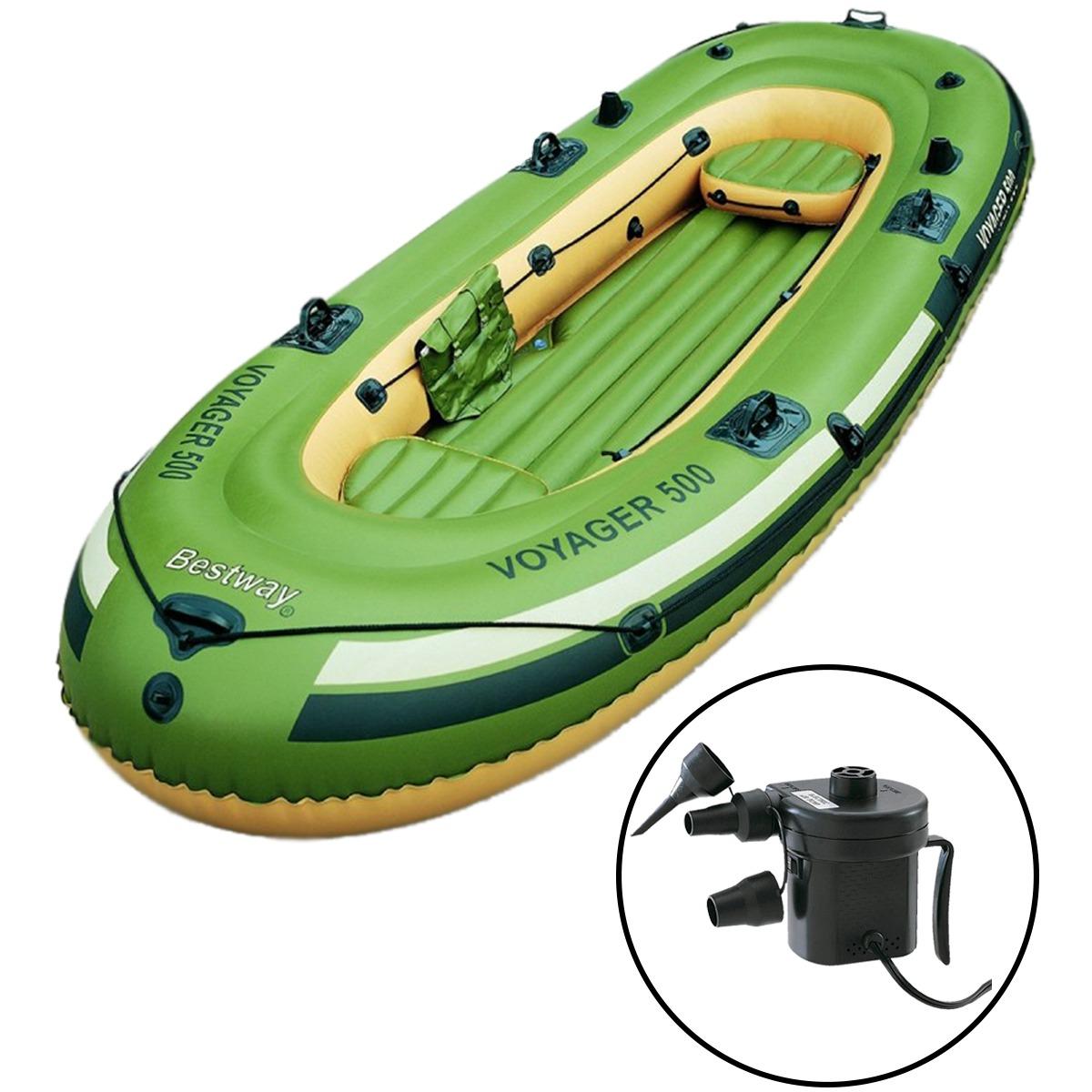 4baa6b4b9 bote inflável voyager 3 p com remos e inflador elétrico. Carregando zoom.