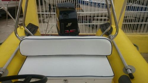 bote inflável zefir 42 sport mercury 60 hp (flutuador 2016)