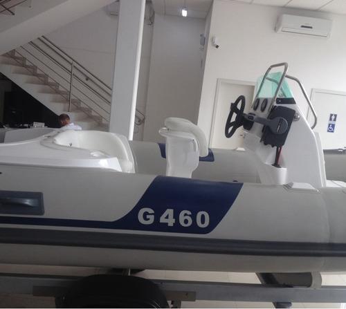bote inflável zefir g460 yamaha f60hp 4 tempos zero!