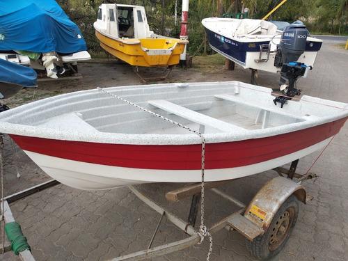 bote lagunero pescador 3 mts con powertec 2 hp 0 hs. envios