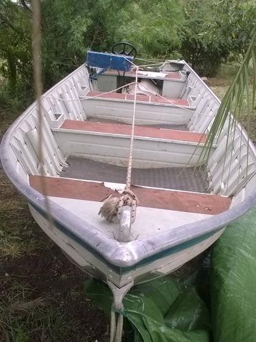 bote lancha aluminio 6 metros completa