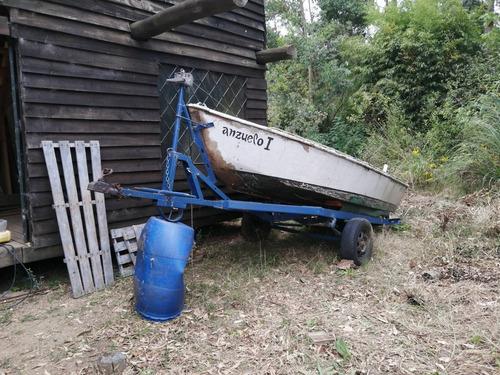 bote madera y fibra  para reparar