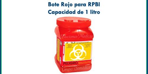 bote para residuos punzocortantes biologicos infeccioso 1lt.