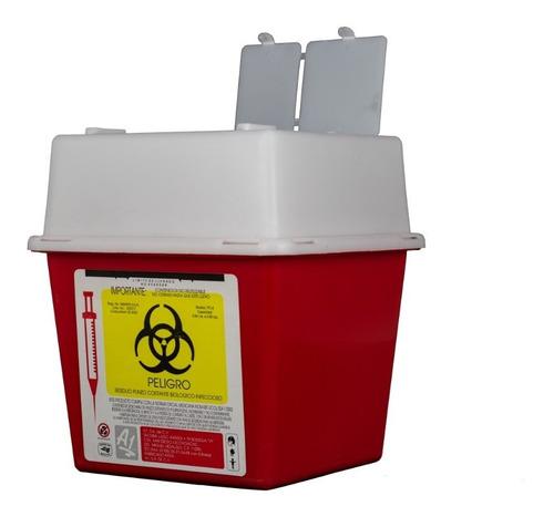 bote para residuos punzocortantes biológicos infeccioso pc-2