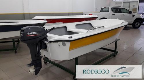 bote pescador 380 c/motor yamaha 15hp 2t  # oferta #
