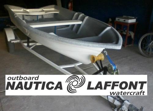 bote pescador indusplast 380 c/ motor yamaha 3 hp 2t monocil