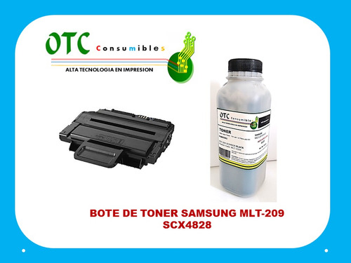 bote recarga toner samsung mlt-209  scx4828 5k