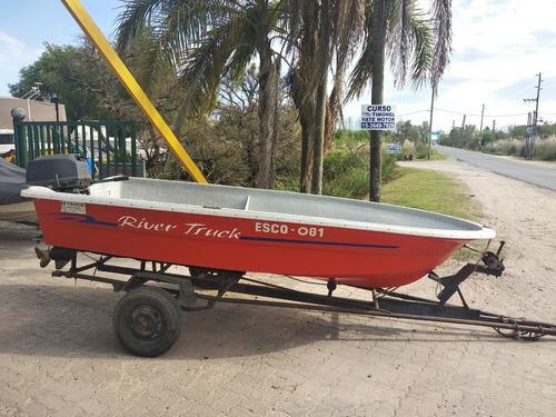 bote rivertruck 3.95 con tohatsu 40 hp trailer