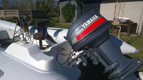 bote semirigido  con motor yamaha 40hp astillero lunamar