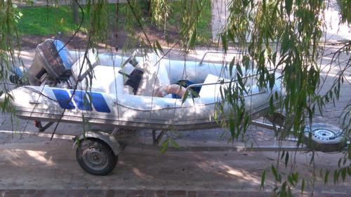 bote semirrigido autonautica 4 mts motor 40 hp con trailer