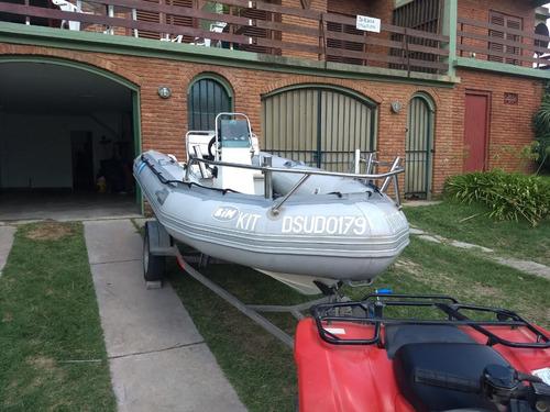 bote semirrigido bim 4.30 -  suzuki 40 hp - 2 tiempos 2003