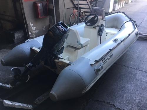 bote semirrigido bim 4.30 - suzuki 40 hp / 4 tiempos .