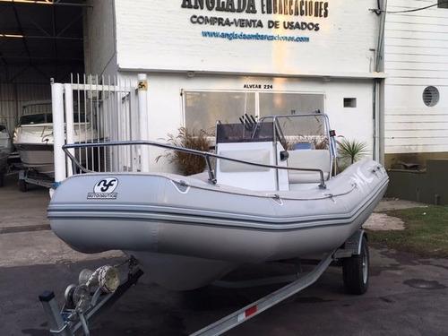bote semirrigido embarcacion olimpus 5.40 motor mariner 4t