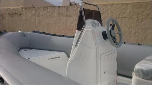 bote semirrigido gomon viking 490 motor 40hp arranque y trim