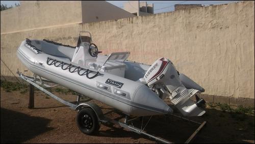bote semirrigido gomon viking 490 motor mercury 40 hp nuevo