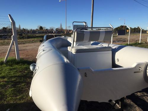 bote semirrigido kiel 460 pescador suzuki 40 hp 2t 2020 0km