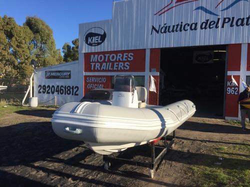 bote semirrigido kiel 460 pescador suzuki 40 hp 2t retira ya
