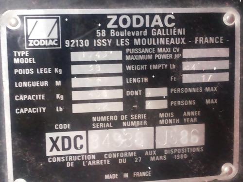 bote sodiac 3,1 m. con motor yamaha 9.9 hp buen estado
