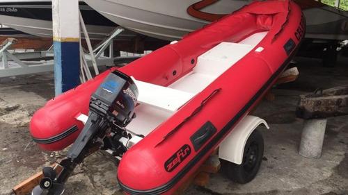 bote zefir 360, 2015 c/ carreta, sem motor  marina atlântica