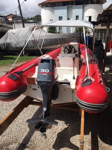 bote zefir g500 ano 2007 infláveis lancha - marina atlântica