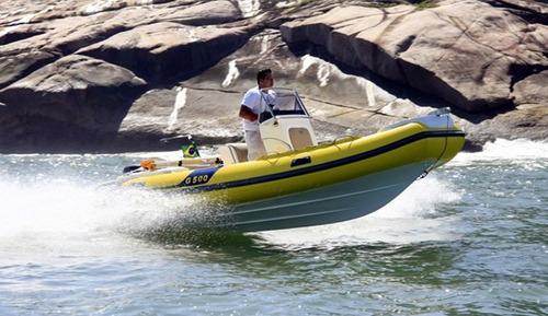 bote zefir g500, casco 0km de fábrica - marina atlântica