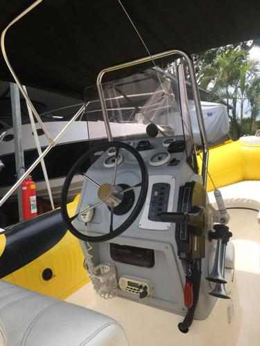 bote zefir g600, ano 2010. mercury 135hp com 110 horas