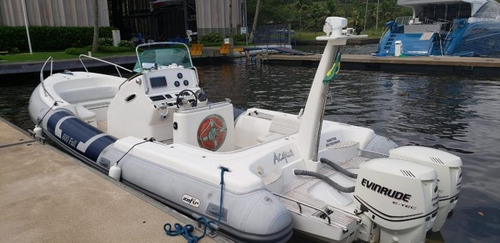 bote zefir g800, 2011. 02x  evinrude 175hp- marina atlântica